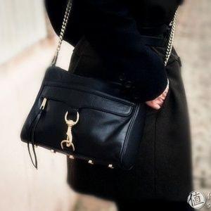 REBECCA MINKOFF Large M.A.C. crossbody bag black